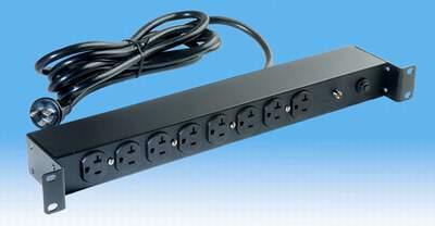 1U高度機櫃式特殊電源插座組