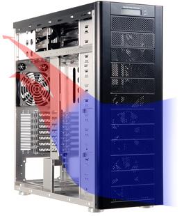 聯力(極致工藝)PC-A77(12大9小)鋁鎂合金伺服器電腦機殼(N.P)